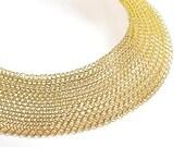 Statement necklace.Bib necklace.Gold necklace