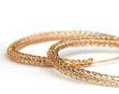 Large hoop earrings - Rose gold hoops