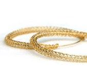 Gold Hoops Earrings - Gold Hoops 14K - Thin Hoop Earrings - Gold Filled Earrings - Large Hoop Earrings