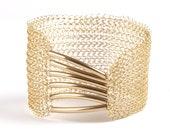 Elegant gold cuff, Wedding bracelet , Bridal jewelry