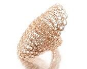 Rose Gold Ring - Statement ring