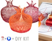 Home Decor Ideas - Craft Kit - Pomegranate DIY Kit - Home gifts DIY - Wire Crochet Kit - Learn crochet with wire - Housewarming gift