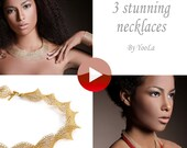 Stunning necklaces patterns combo, Wire crochet VIDEO and PDF Pattern , Jewelry making instructions, movie tutorials, instant download