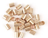 Gold filled tube bead, barrel bead