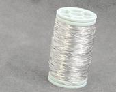 Sterling Silver 925  wire , dead soft , 28g , 20 gram , crochet supplies,  80ft 26 yard , wire crochet