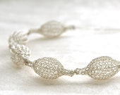 Organic necklace in silver
