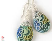 Crochet earrings pattern.Crochet jewelry pattern.Crochet jewelry tutorial.Drop earrings tutorial.mesh jewelry making.Patterns Crochet