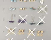 SAMPLE SALE - Earrings samples clearance - Unique wire crochet jewelry - Gift for Her - one pair