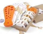 DIY KIT:DIY jewelry Kit-Beginners Wire Crochet kit-4 Crochet Patterns-Crochet jewelry