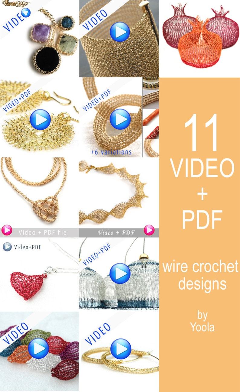 01fce3e86c5 Jewelry tutorials. 11 Amazing Jewelry tutorials. Wire crochet