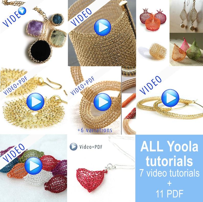 Jumbo Yoola Crochet jewelry making tutorials online video image 0