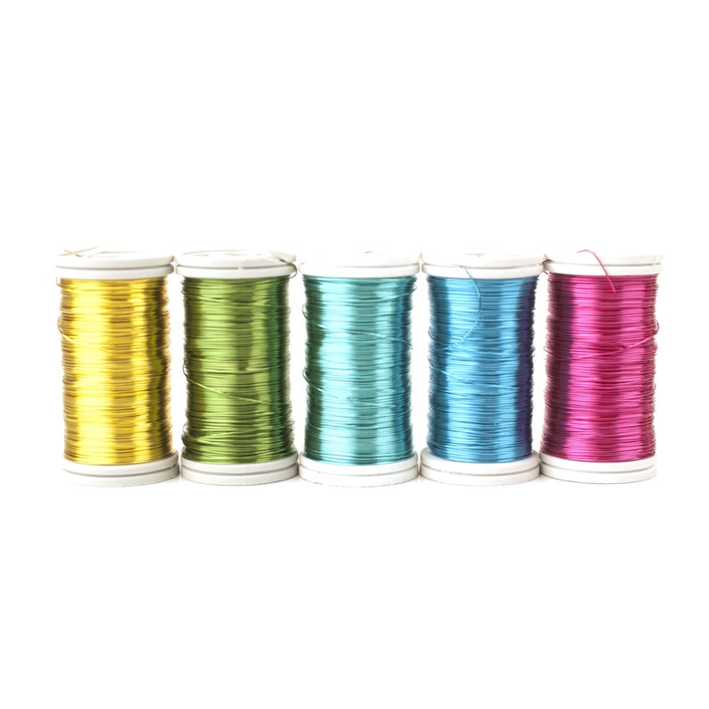 65 feet spool Crochet wire Non tarnish jewelry wire 28 Gauge wire Craft Wire