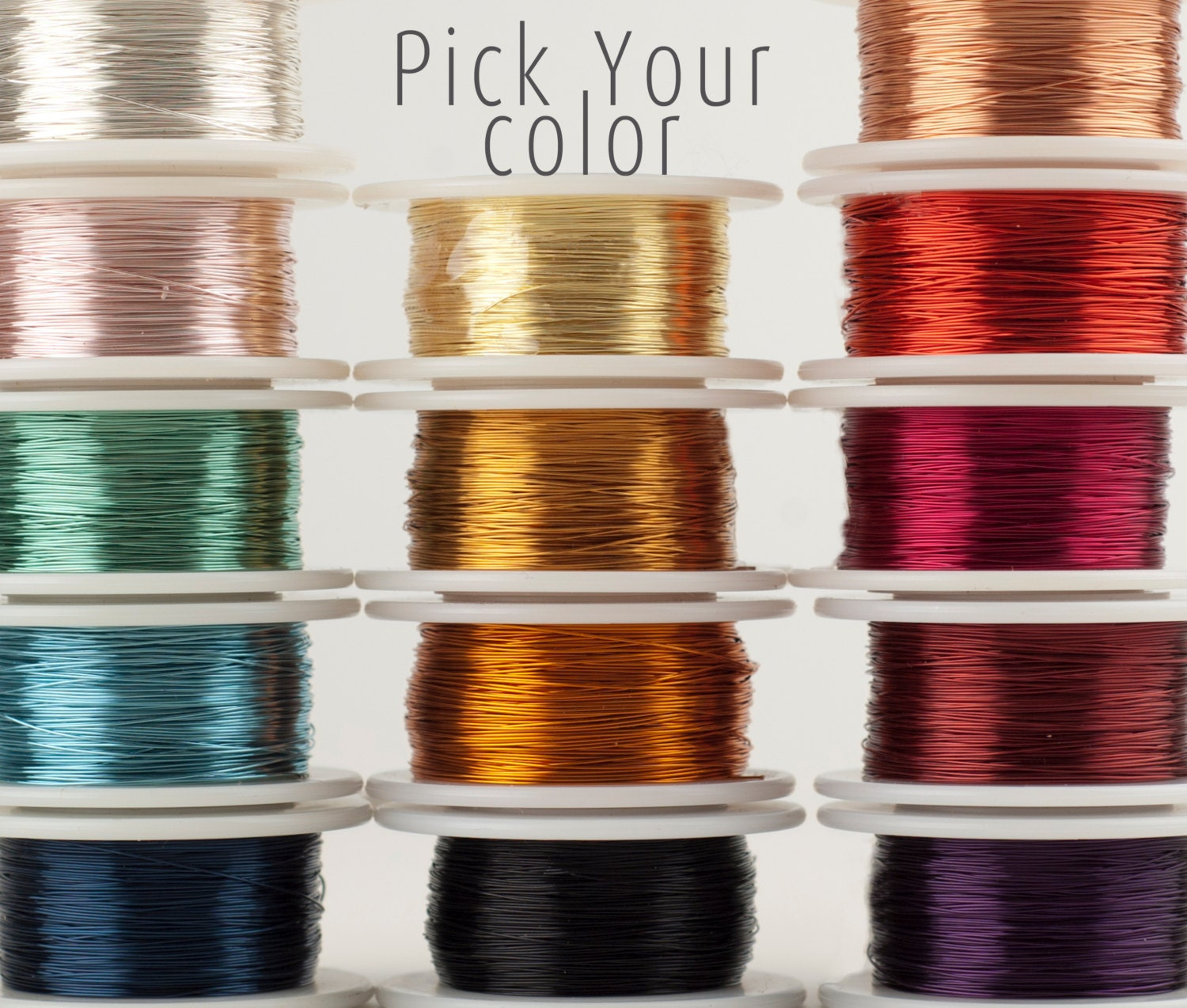 Craft Wire Pick Your Color Wire Crochet Supply 28 Gauge Etsy