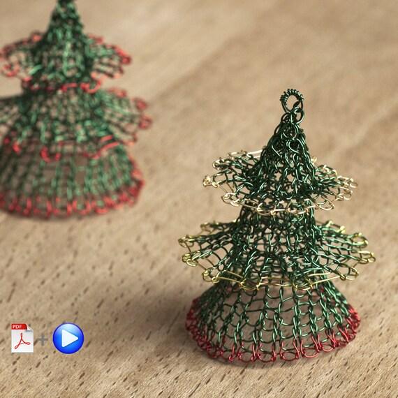 christmas tree ornament pattern advanced level wire crochet etsy