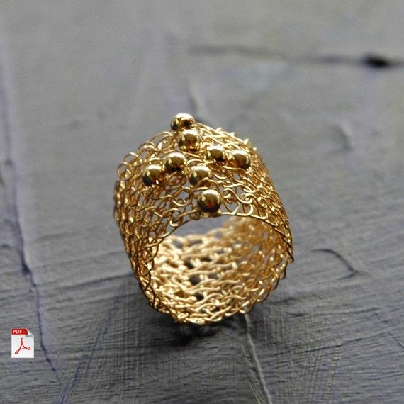 Wire Crochet Jewelry Wire Crochet Cross Ring Pdf Pattern Etsy