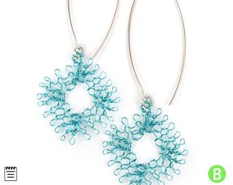 Crochet tutorial - Partial Wire Crochet Pattern - Diamond earring