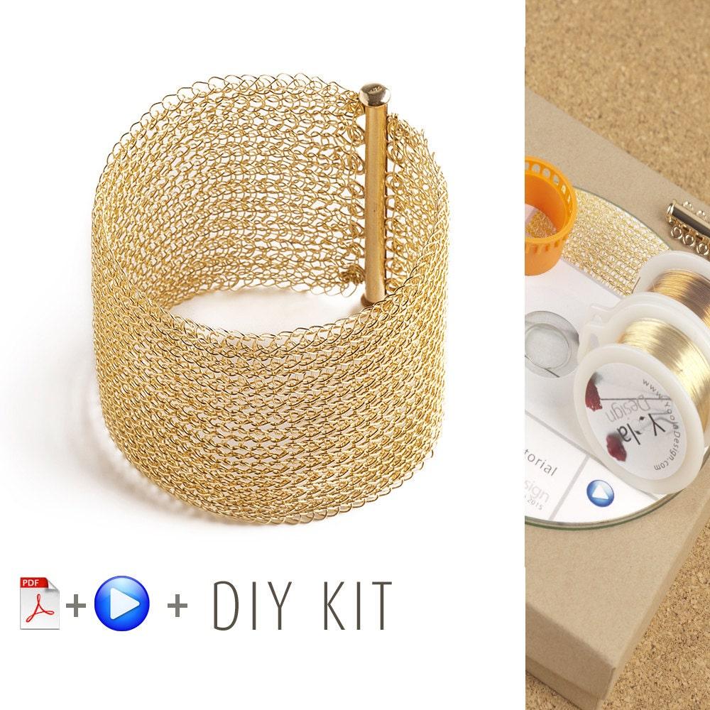 Kit Bijoux crochetés, YoolaCuff - Bracelet Manchette. Crochet fil fil fil Métal. tutoriel Vidéo, Fournitures incluses. 14aa6e