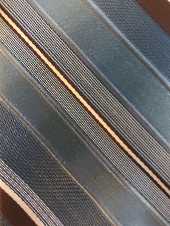 Vintage Lilly Dache' Blue PolySilk Tie