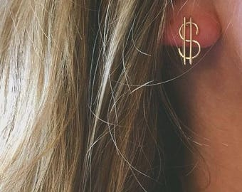 Dollar Sign Earrings
