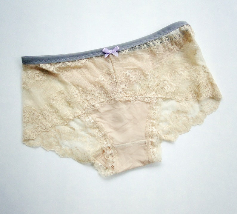 2437c7d0b43 High waisted lace panties full coverage hipster underwear