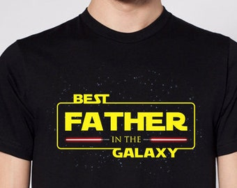 Best father in the galaxy, star wars Father's day gift for dad, best dad shirt, men's text t-shirt, gift for husband,star wars gift, dad tee
