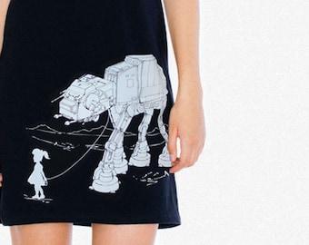 My Star Wars AT-AT Pet - American Apparel Racerback Tank Mini Dress , Geek Dress ( Star Wars Dress )