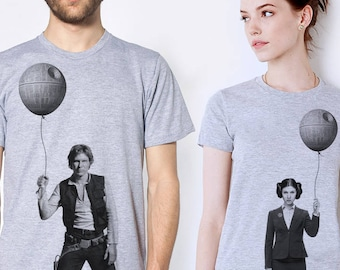 Star wars couples t-shirt set, Business Princess Leia and Han Solo, husband and wife matching shirts, anniversary gift, Valentine's day gift