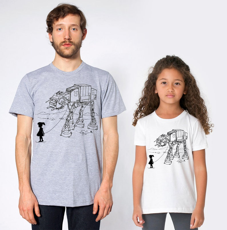 c62f2abe4 ATAT Pet star wars father daughter matching shirts family