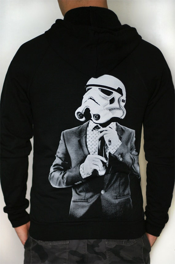 Items similar to Smarttrooper - Mens / Unisex Zip-Up hoodie ( Star Wars / Storm Trooper hoodie) on Etsy