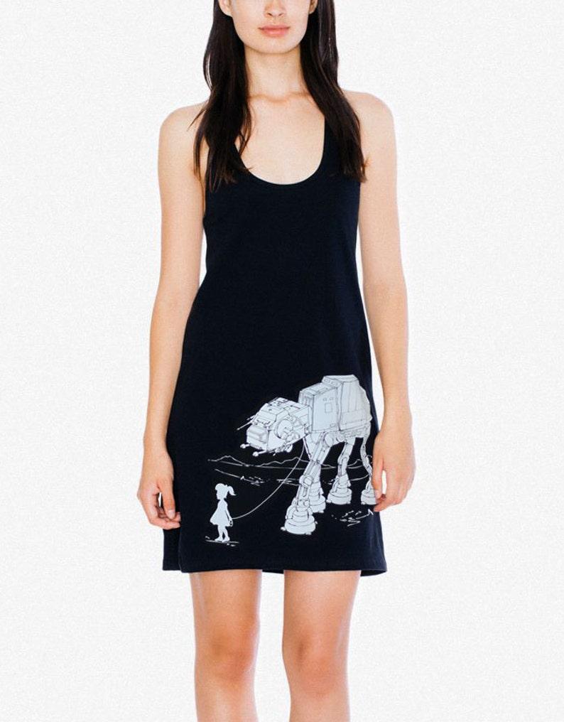 ff217c73fd1 My Star Wars AT-AT Pet Racerback Tank Mini Dress black midi