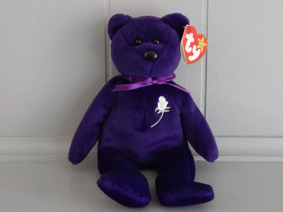 80f0627353f TY First Edition Princess Diana Beanie Baby   No Space   PE