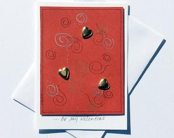 Valentines Day Card,Valentine's Day Greeting Cards,Love Cards,Love Greetings,Heart Art Card,Greeting Cards Handmade,Valentine Cards