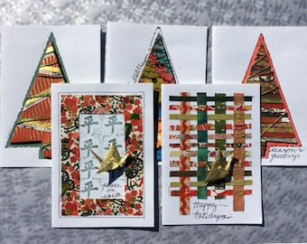 Christmas Handmade Greeting Cards,Happy Xmas Cards,Merry Christmas Messages Wishes,Greeting Cards for Christmas Day,Holiday Card Set