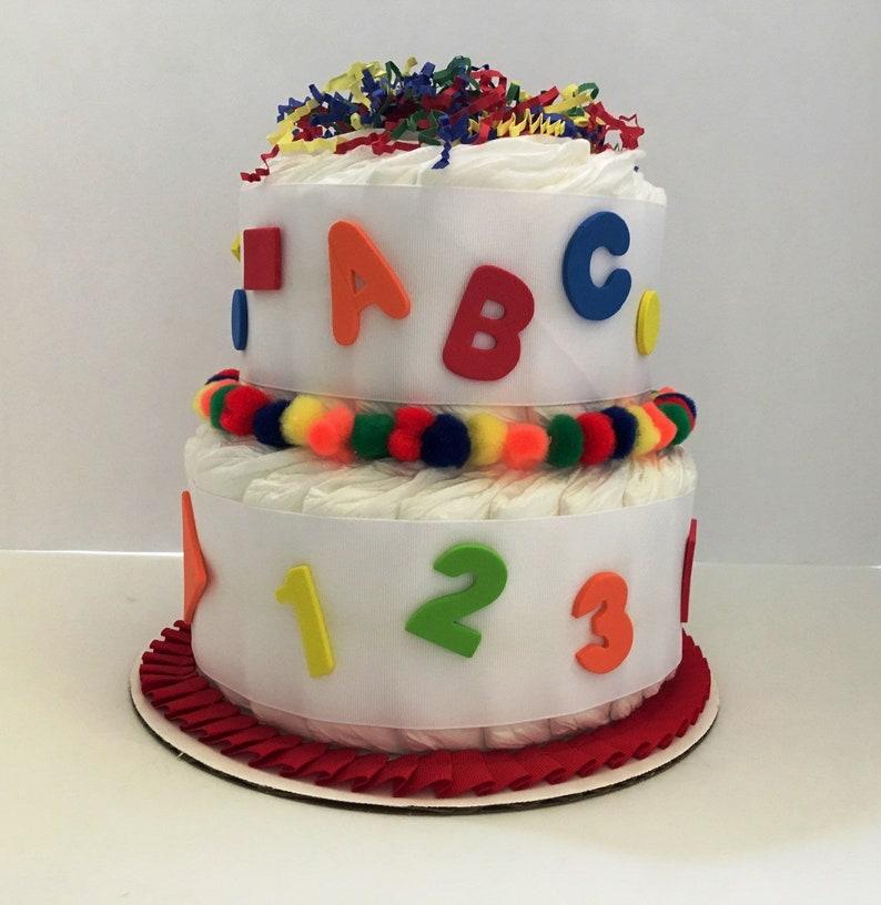 ABC Diaper Cake 2 Layer Neutral