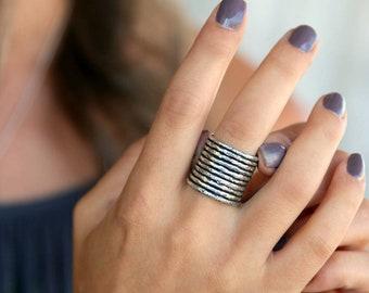 Boho Ring, Sterling Silver Boho Jewelry, Bohemian Ring, Bohemian Jewelry, Silver Boho Ring, Boho Stacking Rings Silver Stacking Boho Rings,