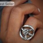 Hippie Fashion Accessories, Hippie Jewelry, Bohemian Jewelry, Bohemian Ring, Hippie Ring, STERLING SILVER Hippie Ring, Hippie Jewelry Ring