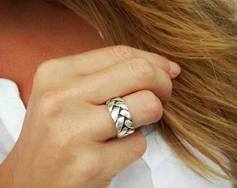 Minimlist Jewelry, Minimalist Ring, Minimalist Silver Ring, Braided Silver Ring, Braided Ring, Silver Ring, Minimalist Silver Ring in Silver