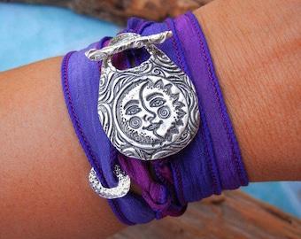 Solar Eclipse Bracelet, Eclipse Bracelet, Solar Eclipse, Sun & Moon Jewelry, Eclipse Jewelry, Eclipse Wrap Bracelet