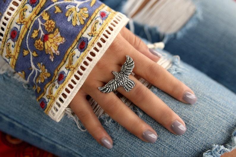 Boho Rings Silver Boho Ring Boho Jewelry Handmade Boho image 0