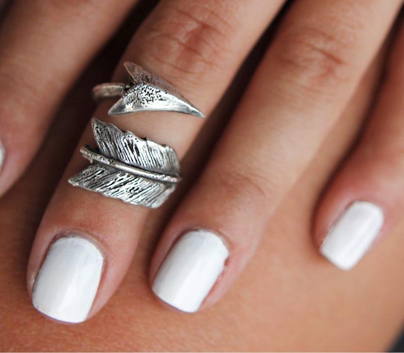 Sterling Silver Midi Ring Boho Midi Rings Midi Boho Ring image 0