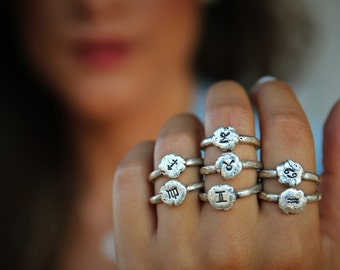 Capricorn Jewelry, Capricorn Ring, December Birthday Jewelry, Zodiac Jewelry, Zodiac Rings, Astrological Jewelry Gift, Celestial Jewelry