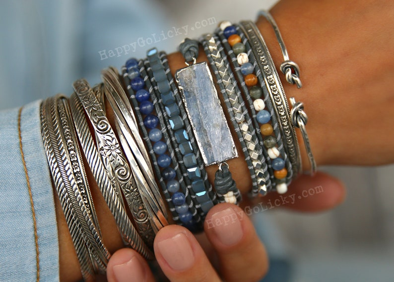Boho Jewelry Boho Wrap Bracelet 5X Leather Wrap Bracelet 5X image 0