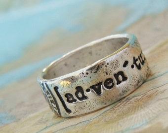 GYPSY Ring, GYPSY Jewelry, Sterling Silver Gypsy Ring, Handmade Gypsy Ring in Sterling Silver, Gypsy Boho Ring Jewelry, Gypsy Silver Rings
