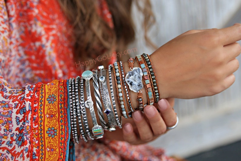 Boho Jewelry Boho Wrap Bracelet Leather Wrap Bracelet 5X image 0