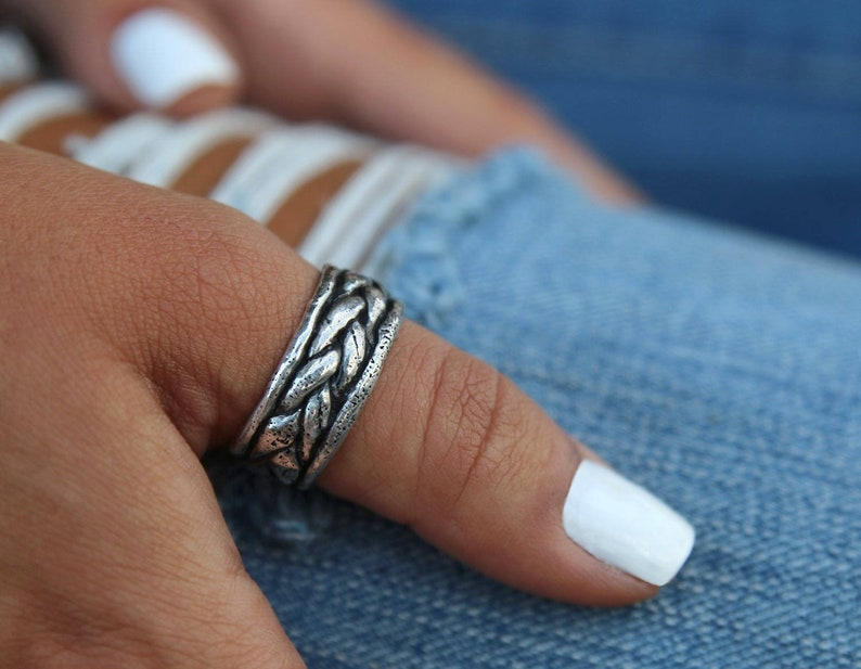 Boho Rings Thumb Ring Boho Jewelry Handmade Boho Sterling image 0