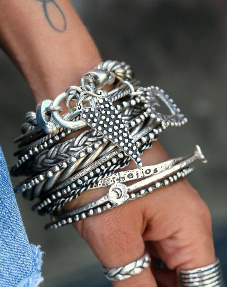 Boho Stacking Bracelet Chunky Boho Jewelry Bohemian image 0