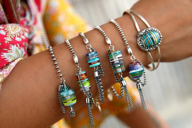 Nautical Jewelry Recycled Surfite Jewelry Bracelet Nautical image 0