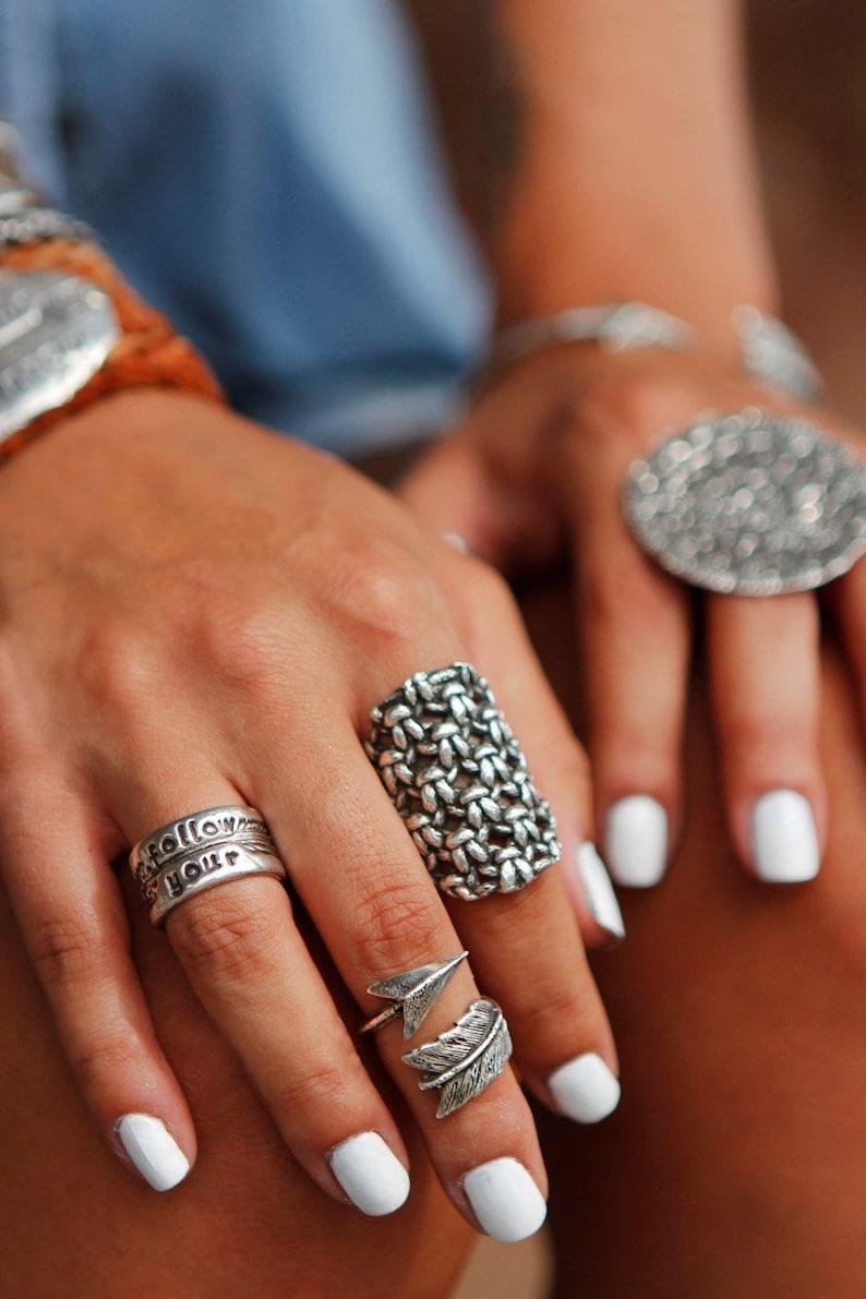Chunky Knit Jewelry Chunky Jewelry Chunky Knit Ring Chunky image 0