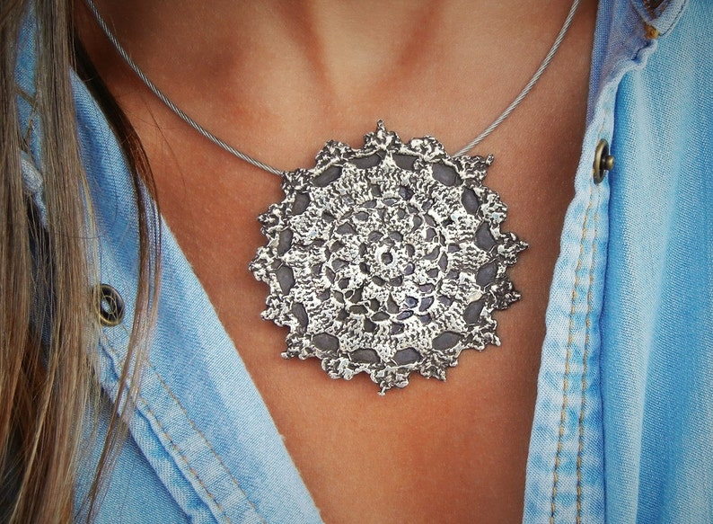 Boho Jewelry Boho Necklace Sterling Silver Boho Necklace image 0