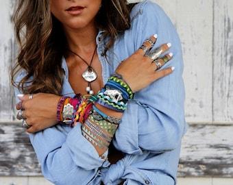 Boho Wrap Bracelet, Boho Jewelry, Bohemian Bracelet, Bohemian Wrap Bracelet, Boho Bohemian Jewelry, Boho Bracelet, Boho Silk Wrap Bracelet